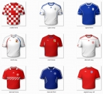 Maillots 2D Standard Nations